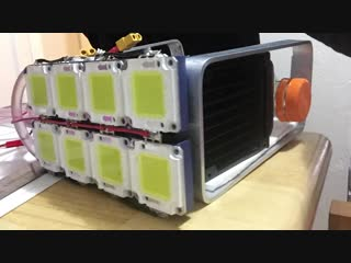 Мощный светодиодный самодельный фонарь на 100000 люмен!!!