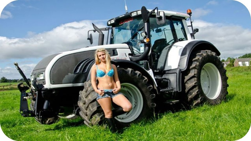 Красиві дівчата на тракторі Підбірка №12