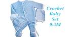 Baby Boy Set How to crochet newborn bean stitch sweater jacket cardigan 0 6M Crochet for Baby 171