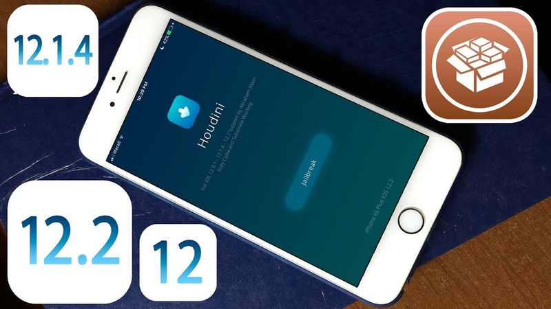 Houdini b4 Jailbreak for iOS 12.2 - 12.1.4 - 12.1.3 Support all devices! Cydia!