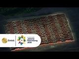 LUAR BIASA!! Bak LED, 1500 Penari Ratoh Jaroe Membuka Opening Ceremony Asian Games 2018