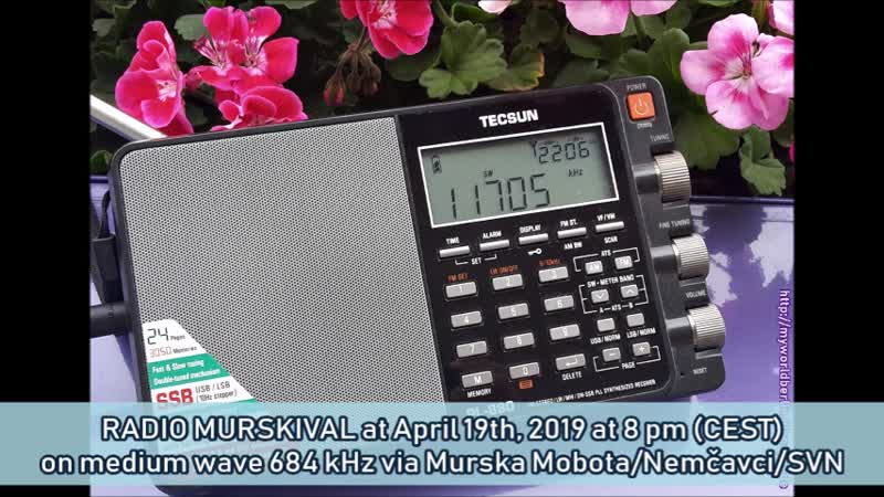 Radio MurskiVal am 19.04.2019 um 20 Uhr (MESZ) auf MW 684 KHz via Murska Sobota-NemčavciSVN