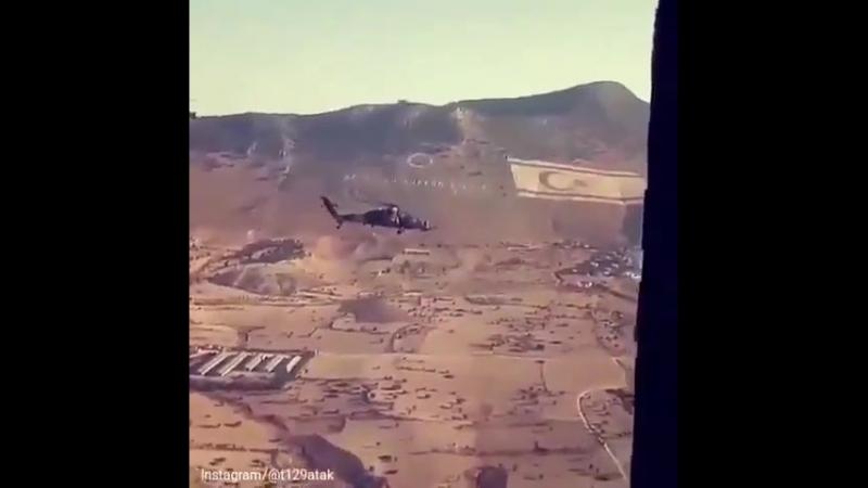 Т 129 ATAK в небе Кипра