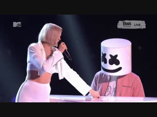 Marshmello, Anne-Marie & Bastille - FRIENDS / Happier (MTV EMA 2018)