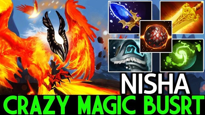 Nisha [Phoenix] Crazy Magic Burst Solo Mid Lane WTF Game 7.20 Dota 2