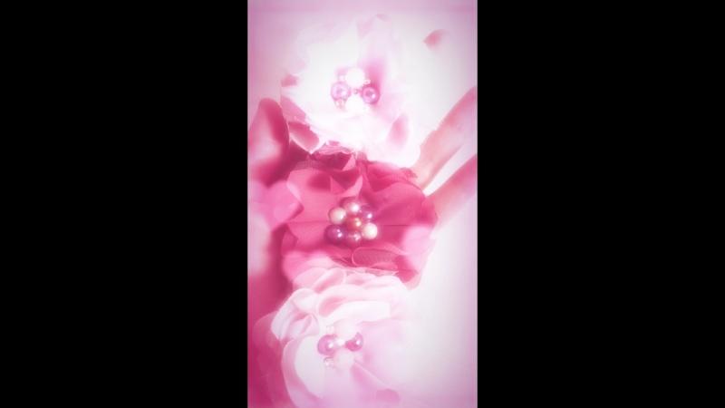 Повязка на голову «Пышные цветы»