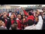 Огонь от египетских фанатов