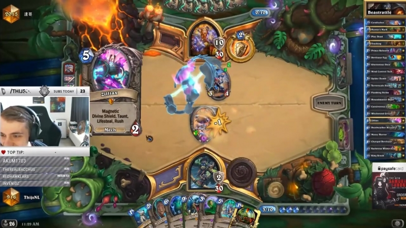 [Thijs Hearthstone] What Are These Plays? I'm Worried About My Opponents