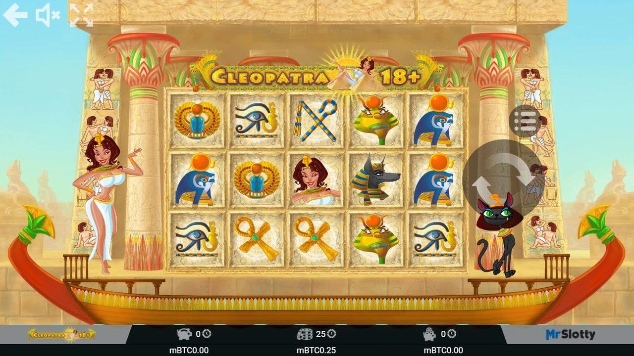 Cleopatra 18+ ( Клеопатра) - подробная информация и обзор от казино Вулкан