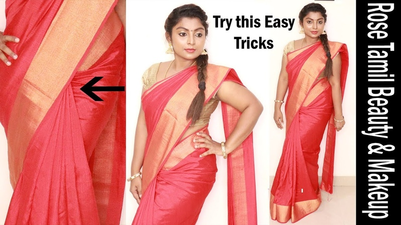 Try this weird trick to get perfect pleats how to wear saree easily and quickly within 5 minutes