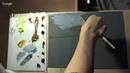 Арина Шульпина 'Пейзаж с лодочкой' живопись маслом