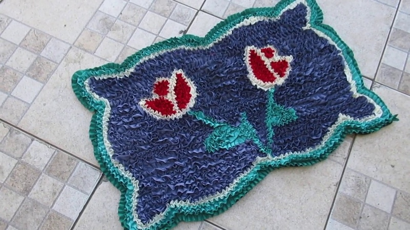 TAPETE FRUFRU 🌷 TIRA RETALHOS -Doormat Making| DIY doormat making idea | How to make doormat at home