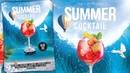 Summer Cocktail Party Flyer Design Photoshop Tutorial