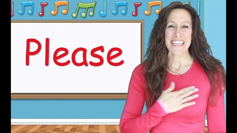 Please and Thank You Sign Language Song for Children, Toddlers and Kids Videos | Patty Shukla