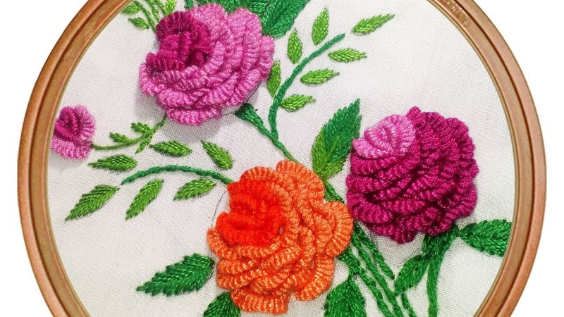 Brazilian Embroidery Pattern | Rose Embroidery Embroidery Design by Hand