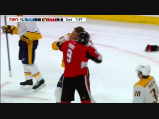 (fight) kyle turris vs bobby ryan dec 17, 2018