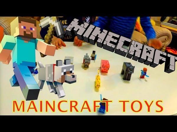 Unpacking Minecraft Toys / Распаковка игрушек майнкрафт