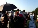 Крестный ход на марше в доль трассы Рига- Елгава.