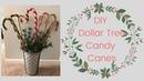DOLLAR TREE CHRISTMAS DIY | Rustic Candy Cane