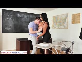 Школьник трахнул зрелую учительницу с большими сиськами, sex milf school boy toy porn mature old milf bang woman (hot&horny)