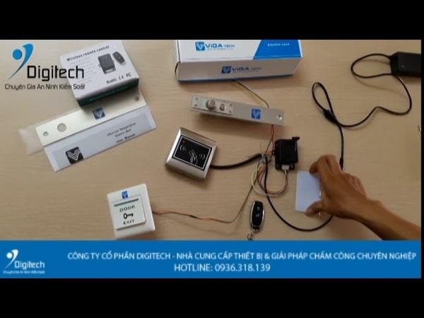 Digitech Media | Lắp đặt đầu đọc thẻ từ với khóa chốt rơi - Khóa chốt thả VT-100