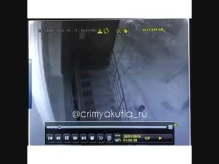 Вандалы разгромили магазин в Якутске. 26.01.19