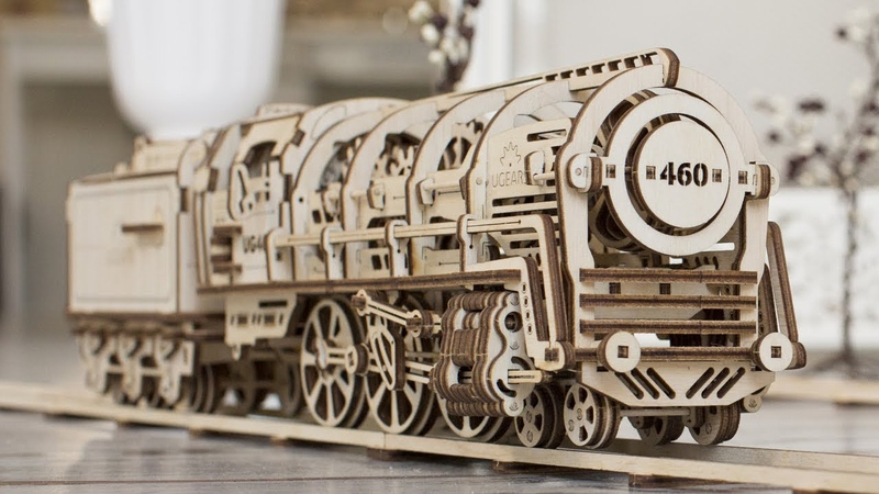 Ugears Steam Locomotive with Tender your hands-on experience in railroad modeling