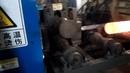 Steel round bar induction heating automatic feeding machine Индукционный нагрев авто загрузка