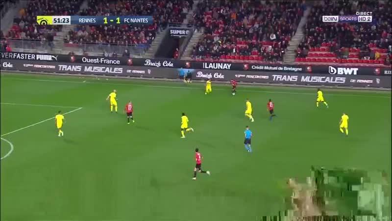 Чемпионат Франции 2018-19 13-й тур Ренн - Нант