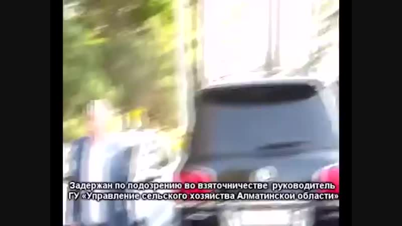 Задержан по подозрению во взяточничестве руководитель УСХ Алматинской области.mp4