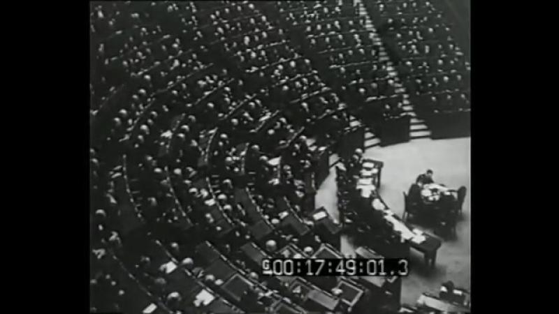 Discorso di Mussolini - Annuale dell'entrata in guerra dell'Italia (1941)