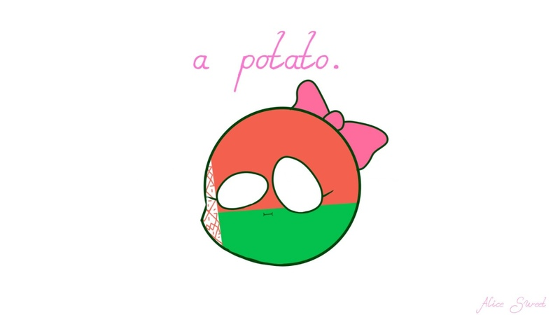 A kawaii potato (or not but this is another countryhumans sh!tpost yeah)