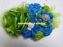 DIY: How to make a Kanzashi ribbon flower, Flores fáciles tela Raso