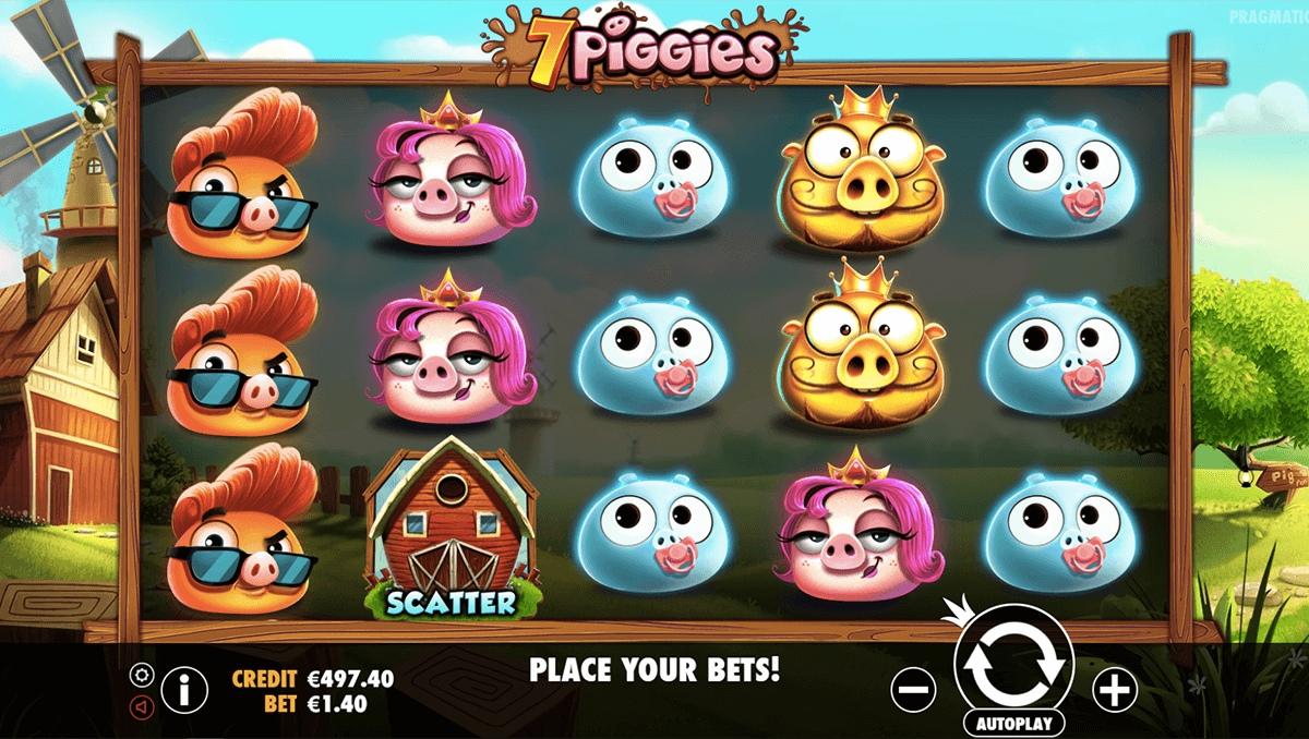 Обзор игрового автомата 7 Piggies (7 свиней) - бесплатные спины