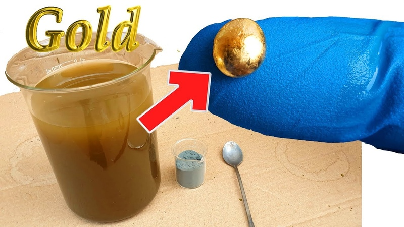 Easy How to Recycle Gold from Aqua Regia the remaining chemical compound precipitate zinc powder