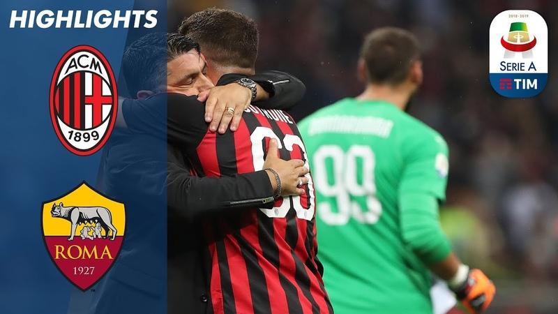 AC Milan 2-1 Roma   Cutrone All'Ultimo Respiro   Serie A
