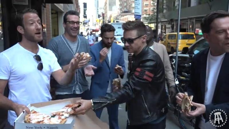 Barstool Pizza Review- Don Antonio w/ Jon Hamm,Ed Helms,Jeremy Renner,Jake Johnson Hannibal Buress