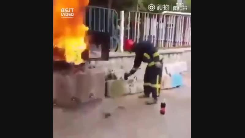 Кола вместо огнетушителя