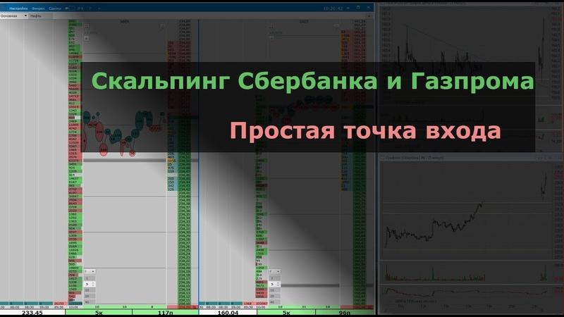 Скальпинг Сбербанка и Газпрома Простая точка входа. Фондовый рынок акций