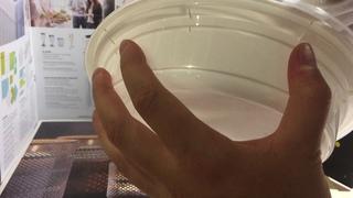 Миска 1000мл JUST WEEK END белая с прозрачной крышкой