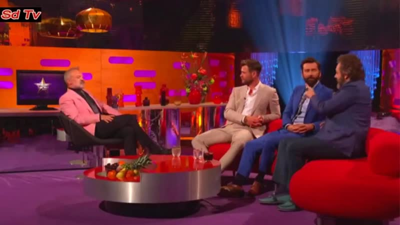 Graham Norton Show 5312019 David Tennant, Michael Sheen about vocal warm-up