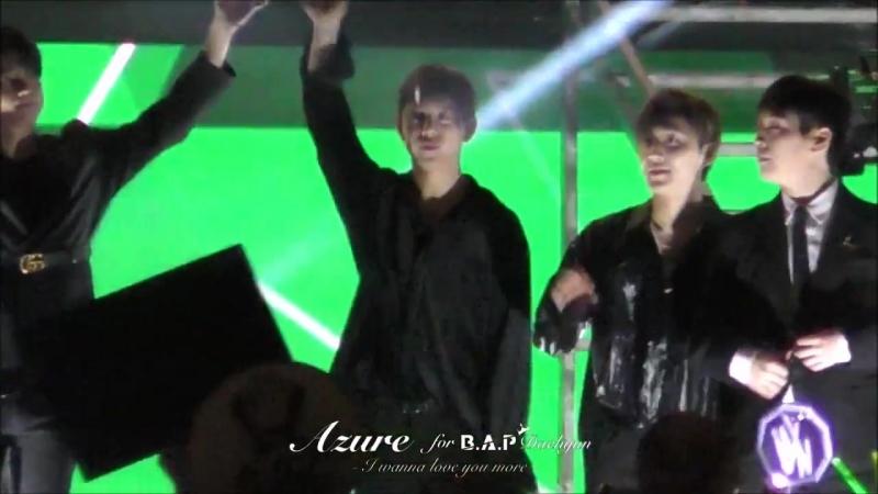 FANCAM 01 09 18 INK Incheon K POP Concert Ending Daehyun focus