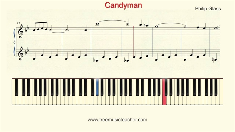 How To Play Piano Philip Glass Candyman Piano Tutorial by Ramin Yousefi