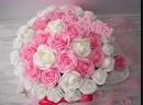 💖Большой бело-розовый букет из ароматных роз на Мыльной основе.