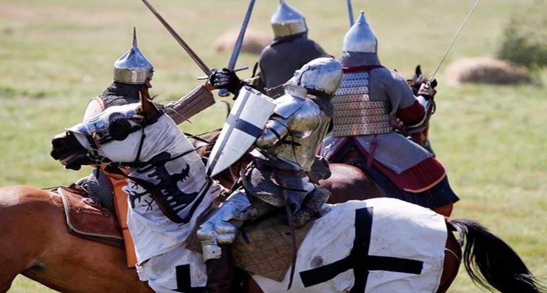 Бой с рыцарями