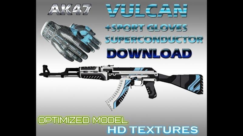 CS:GO AK47 HD Vulcan Sport gloves superconductor