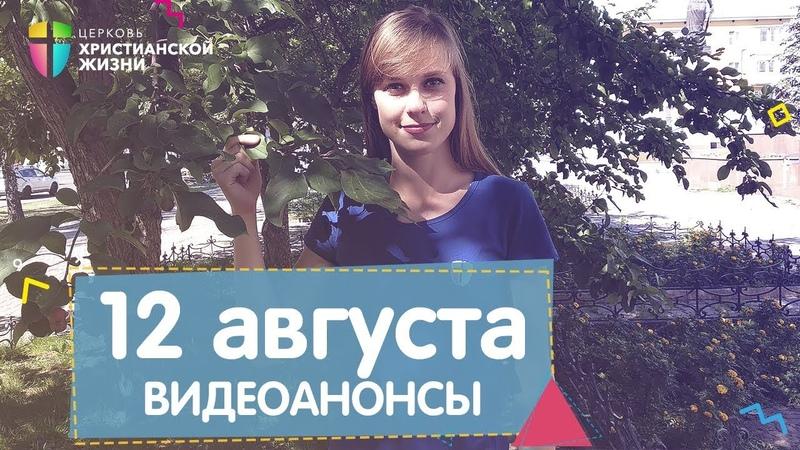 Видеоанонсы от 12 августа ЦХЖ Красноярск