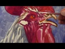 Rooster LONG version Oil Painting DEMO REALISM realtime Animals