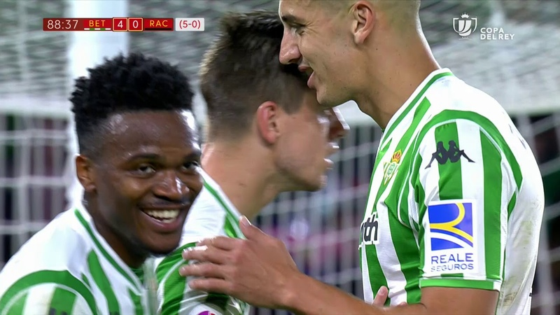 Golazo de Lo Celso (4-0) Real Betis vs Real Racing Club de Santander