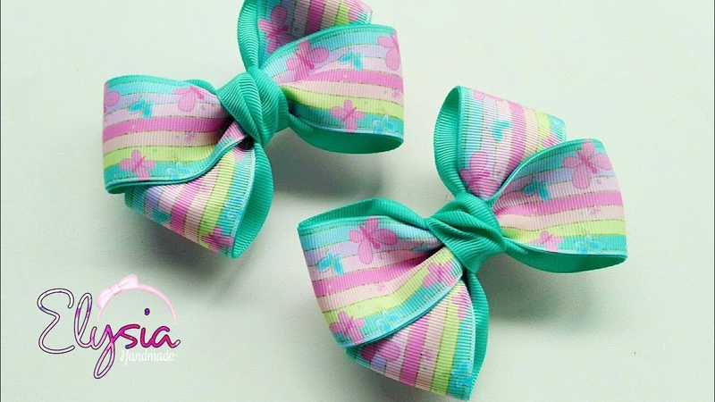 Simple and Easy Ribbon Bow Tutorial 🎀 DIY by Elysia Handmade